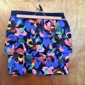 H&M tiered floral mini-skirt